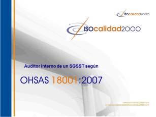 Auditoría, auditoria, OHSAS, ISO 19001, ISO 9001, ISO 14001