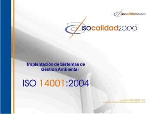 Portada Implantación ISO 14001
